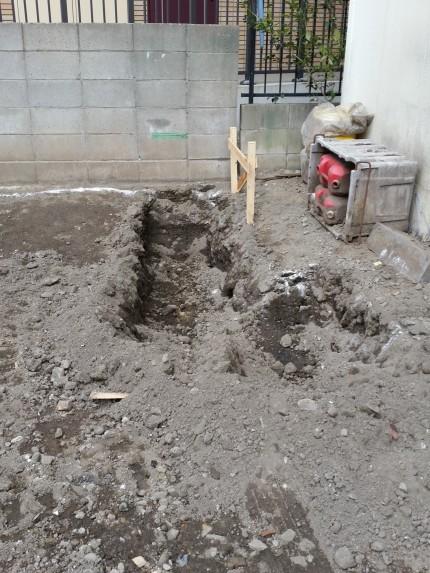M邸基礎の掘削開始2