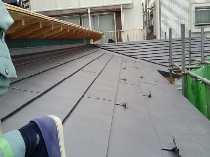 M邸の屋根工事ほぼ終了