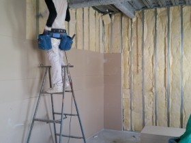 界壁工事下地後半