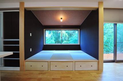 「緑と和の広い家」和室の空間