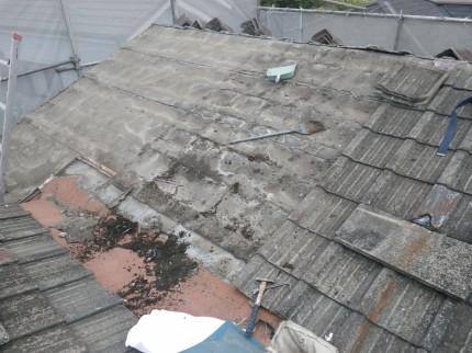 o邸屋根解体