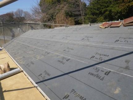 屋根防水(ルーフィング)①