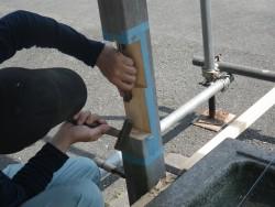 既存柱継手加工