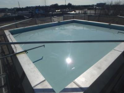 ウレタン防水3層目塗布
