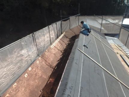 銅板屋根施工