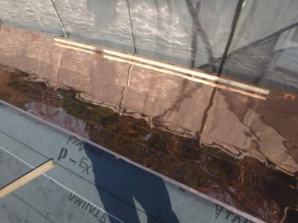 銅板屋根 雪止め