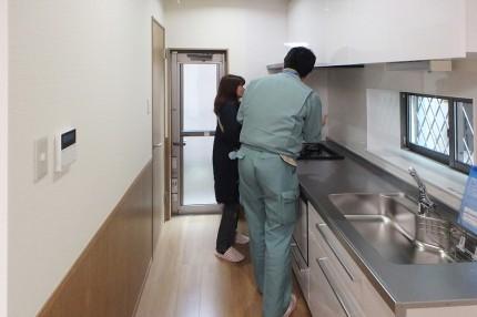 完成見学会 【バリアフリーの家】キッチン