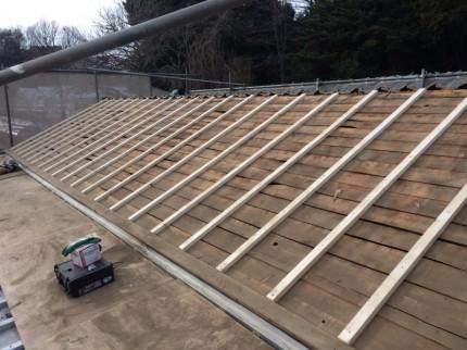 屋根垂木(胴縁)